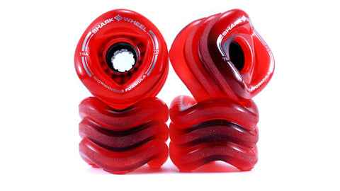 Shark Wheel 70MM, 78A TRANSPARENT RED-BLACK SIDEWINDER