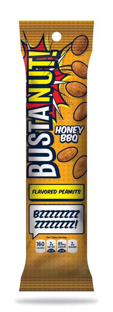 BustaNUT! Honey BBQ Flavored Peanuts (Box of 12)
