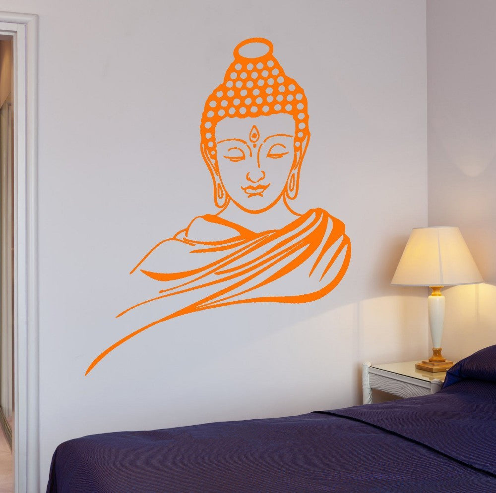 Large Buddha Vinyl Wall Decal In 11 Different Colors