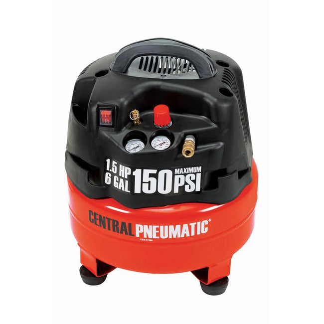 Compresseur 6 Gallons. 1,5 HP 150 PSI Central Pneumatic
