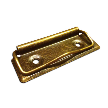 Low Profile Clipboard Clips, Antique Bronze Gold 70mm