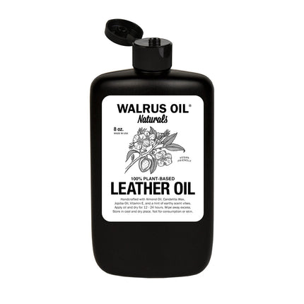 Vegan Leather Oil, 8oz Bottle