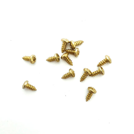 "Clipboard Clip Lag Screw Fasteners, Gold, #4 1/4"", 100-pack"
