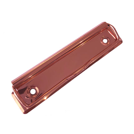 Low Profile Clipboard Clips, Shiny Rose Gold 120mm, Box of 100