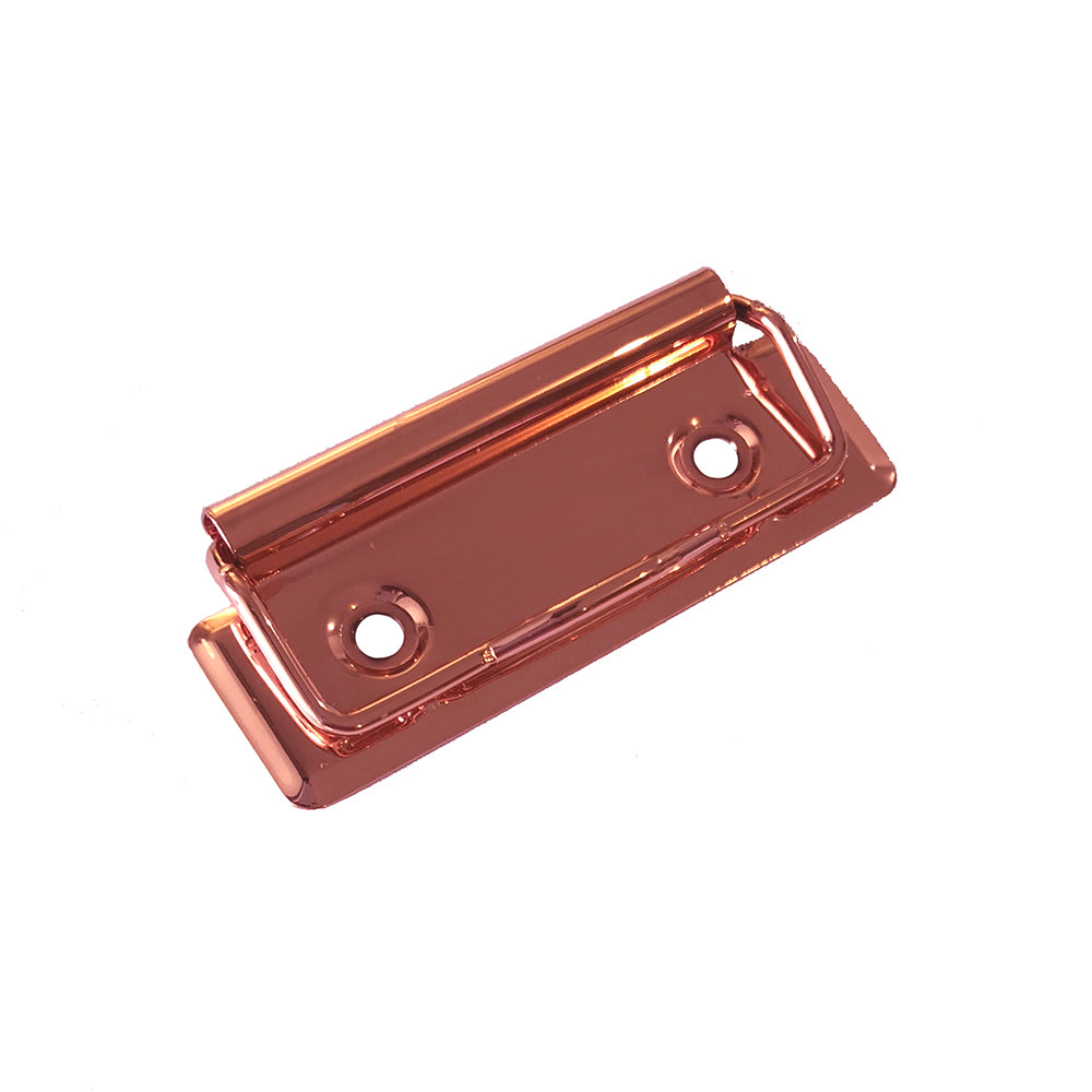 Low Profile Clipboard Clips, Shiny Rose Gold 70mm
