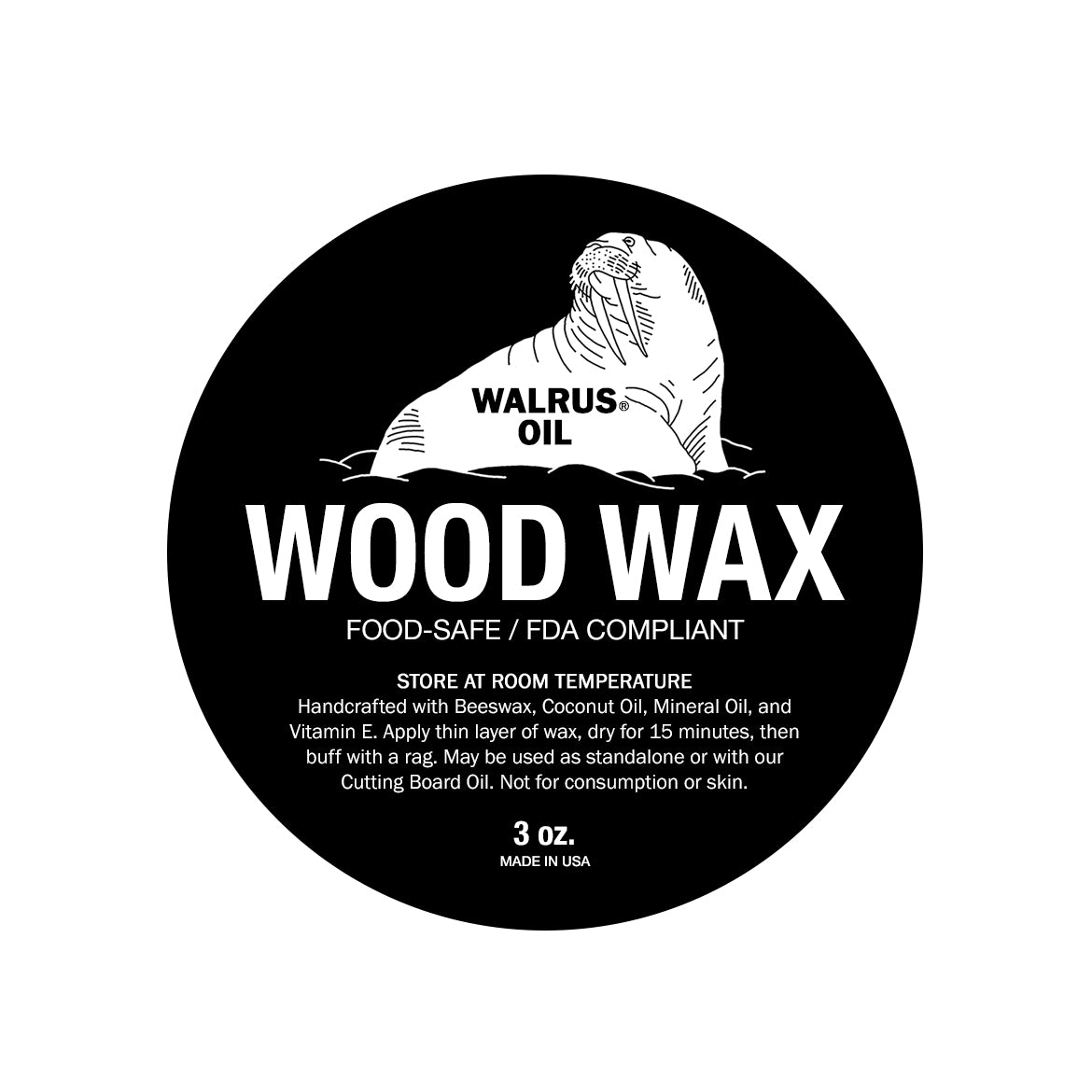 Wood Wax, 3oz Can