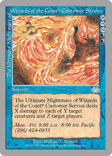 The Ultimate Nightmare of Wizards of the Coast® Customer Service