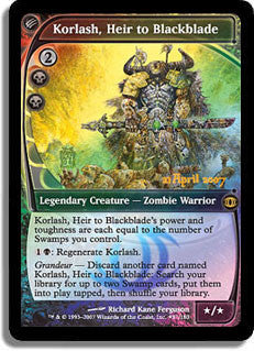 Korlash, Heir to Blackblade (Prerelease Foil)