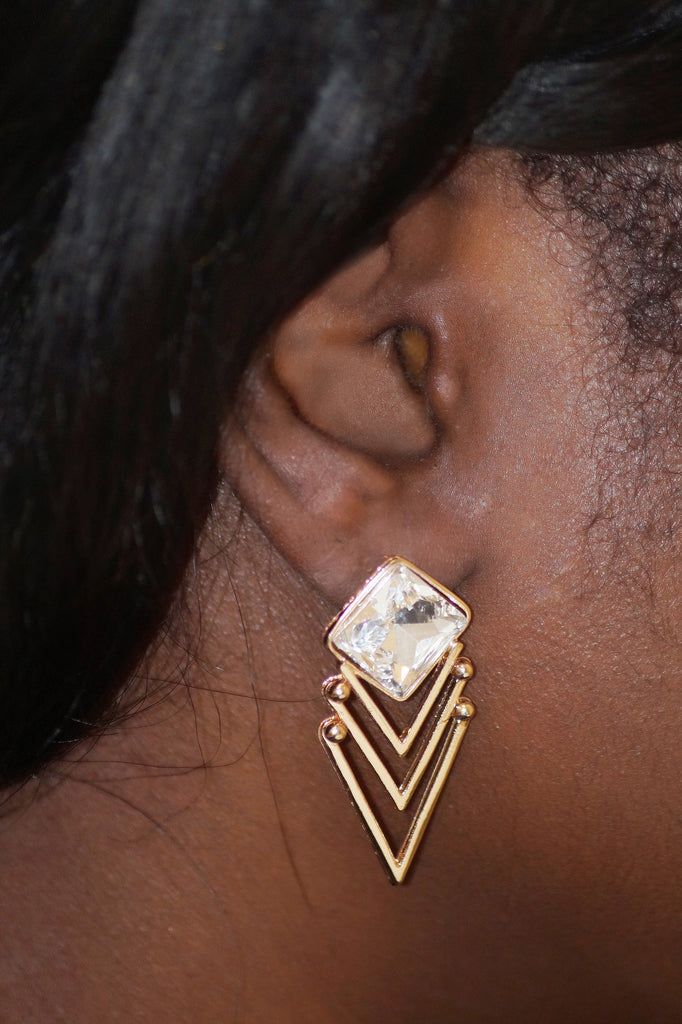 Gold Getter Statement Earrings