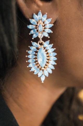 Chic Blue Statement Earrings
