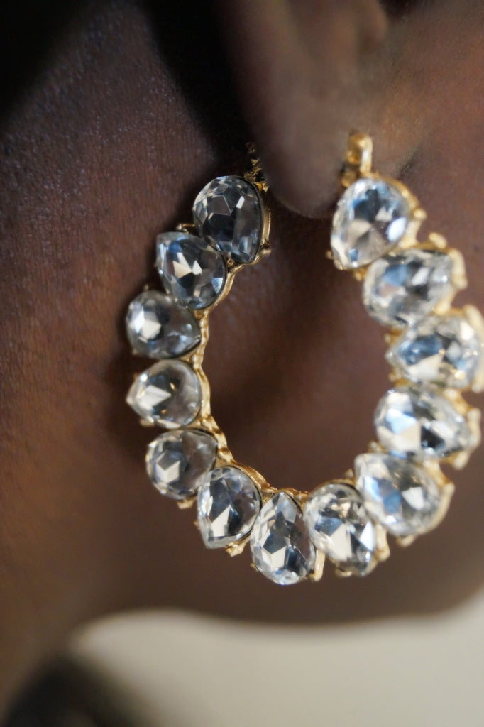 Star Gold Hoop Earrings