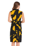 Abstract Vest Dress
