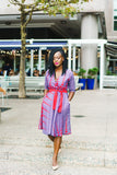 African Print Lola Flared Dress with Pockets