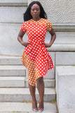 Two Tone Polka Dot Dress