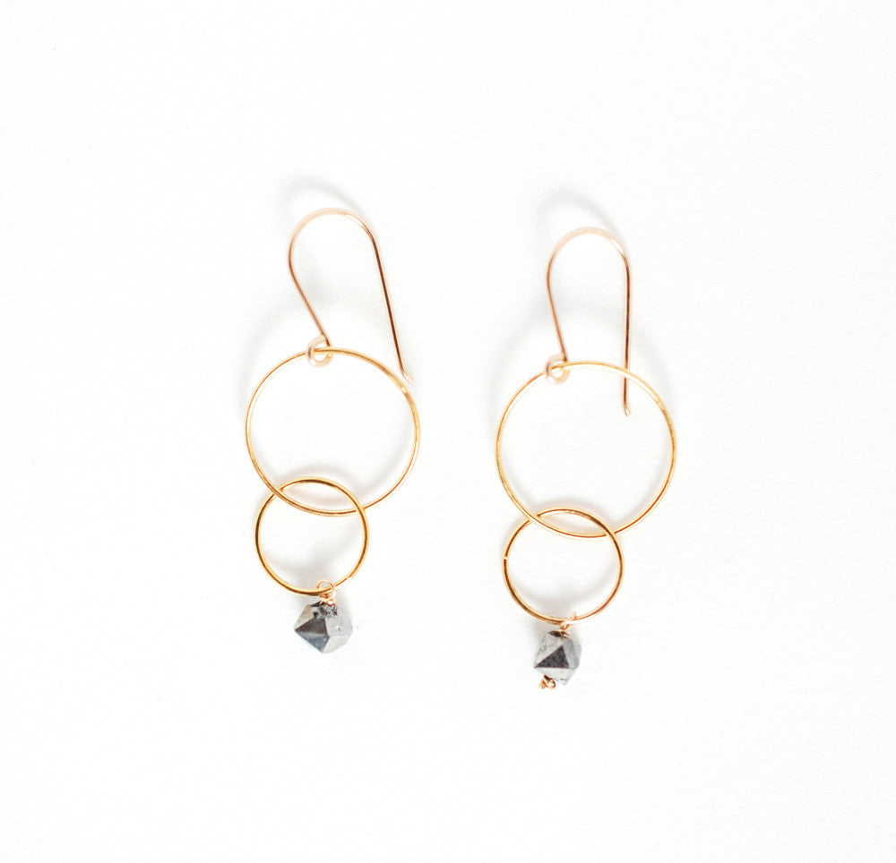 Bubble Earrings- Crystal