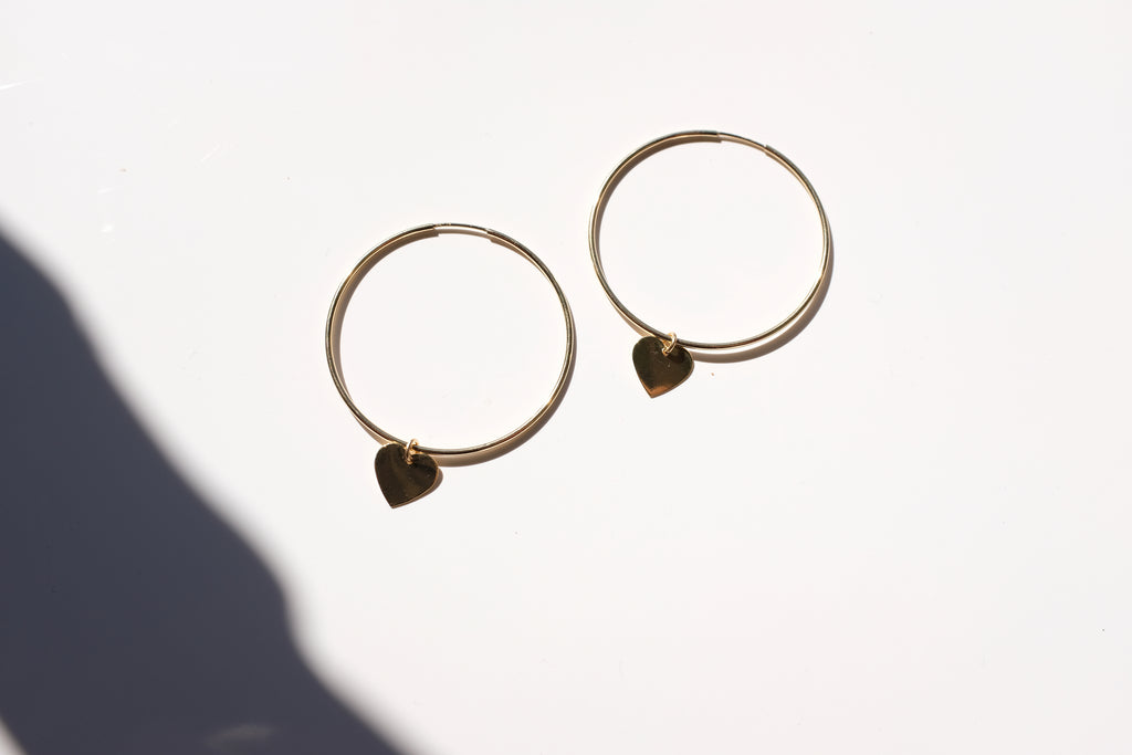 Heart Hoops- 45mm