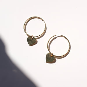 Heart Hoops- 24mm