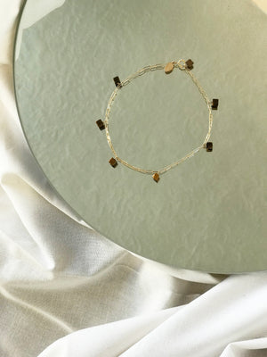 Vista Anklet- Tiger's Eye