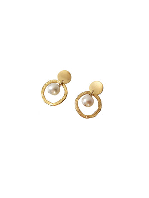 Ostrea Earrings- Pearl