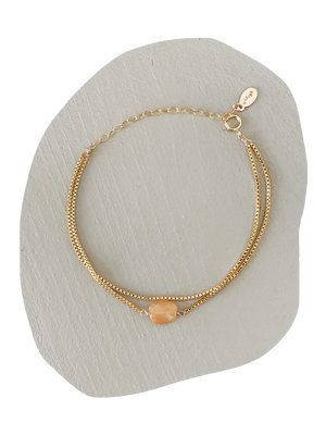 Grace Bracelet- Peach Moonstone