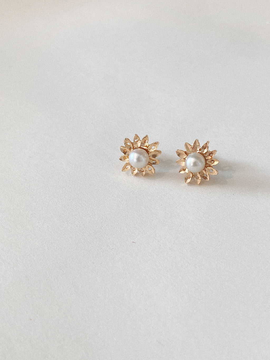 Sunflower Pearl Studs