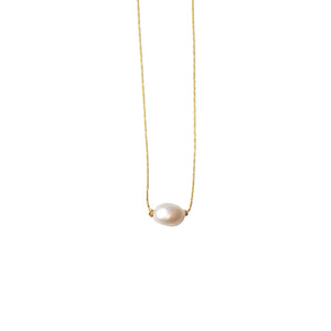 Itty Bitty Necklace-Pearl