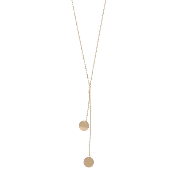 Double Discs Necklace