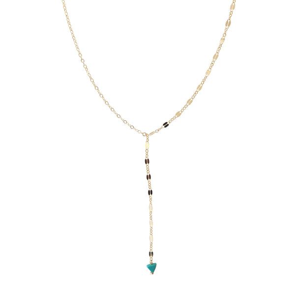 Shimmer Y-Necklace- Small Gem (more colors)