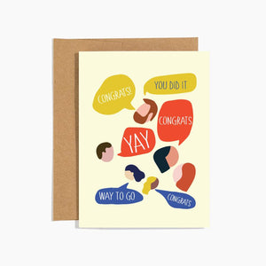 Talking Heads Congrats Greeting Card