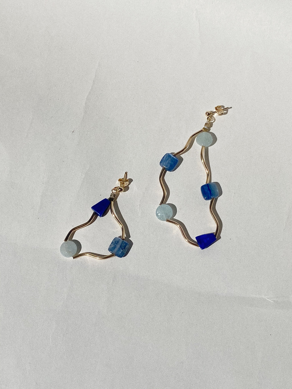 Current Earrings- Aqua