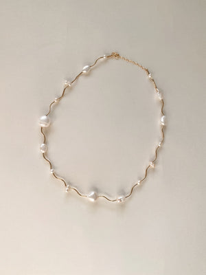 Current Necklace- Pearl