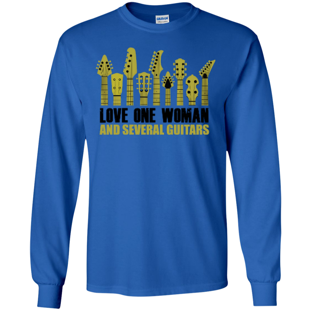 Love One Woman and Several Guitars - Long Sleeve Ultra Cotton Tshirt