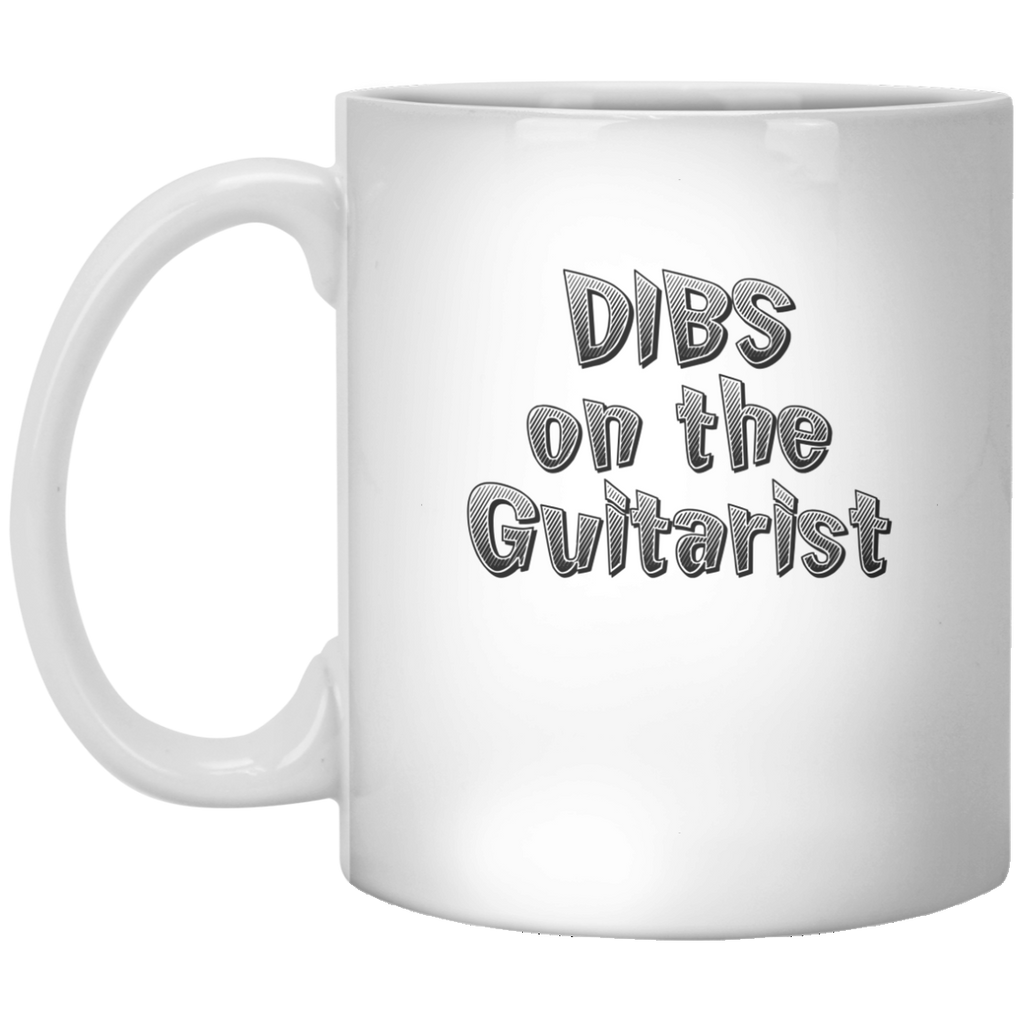Dibs On The Guitarist Coffee Mug