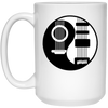 Guitar Coffee Mug – Cool Yin Yang Gitar Design for Musician Art Gift Lover