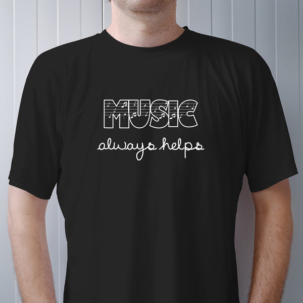 Music Always Helps Basic Tee