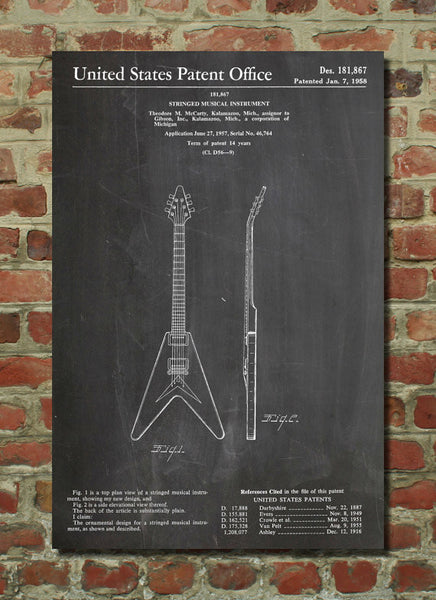 Gibson Flying V Guitar Poster