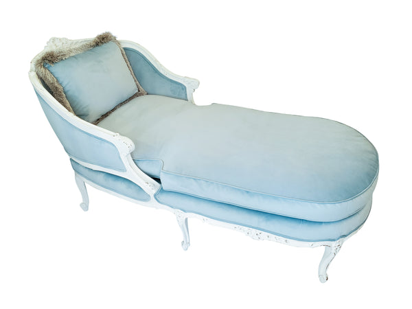 Antique Chaise Lounge - Robins Egg Blue