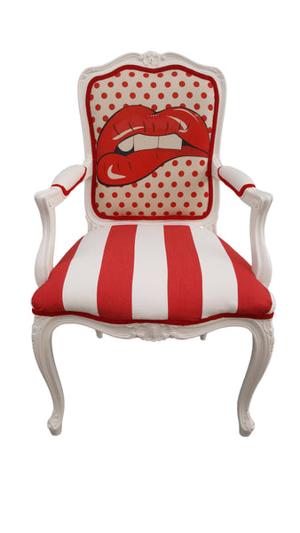 Pop Art Armchair - Red Lips