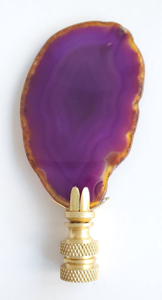 Geode Slice Lamp Finial