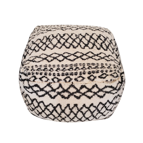Black & White Floor Pouf