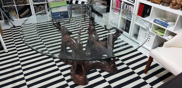 Cast Bronze Elephant Dining Table