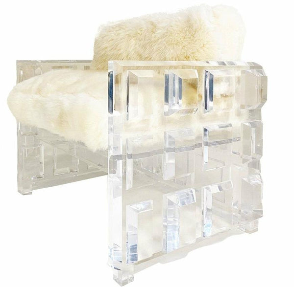 Cubed Crazy Lucite Chair