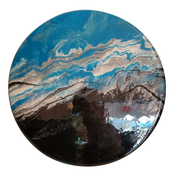 Hand Painted Resin Round