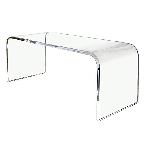 acrylic lucite waterfall coffee table