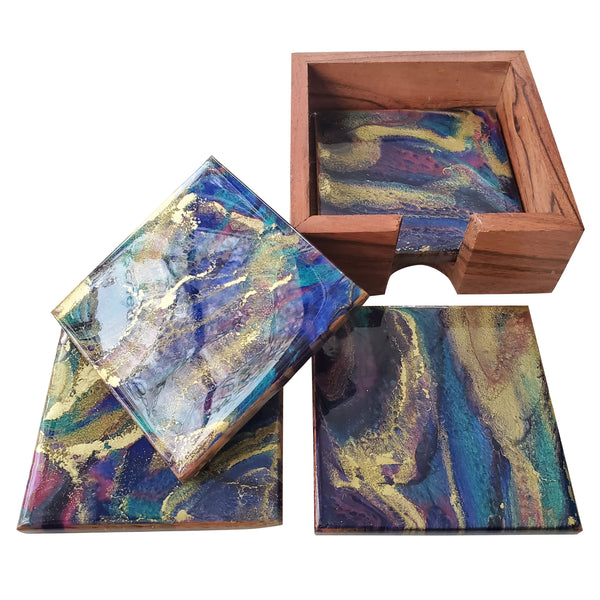 Hand Painted Resin Coasters