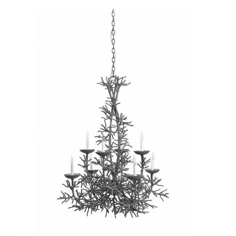 Cordelia Coral Chandelier - Dark Gray