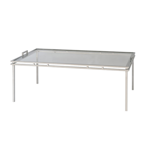 Spencer Cocktail Table - Stainless Steel