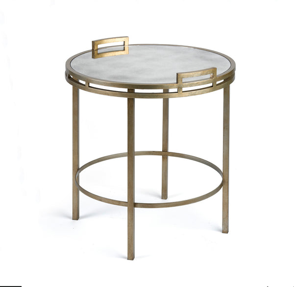 Spencer Accent Table - Burnished Brass