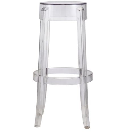 Backless Ghost Bar Stool