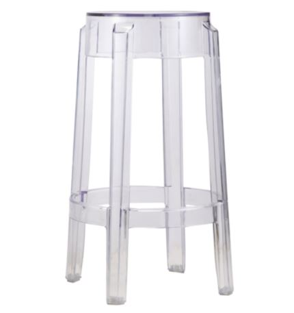Backless Ghost Counter Stool